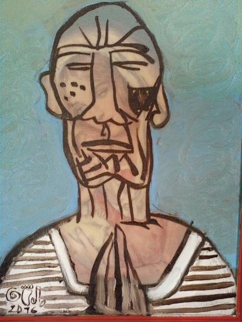 Picasso priant et la Sainte Vierge