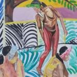 Détail Eve rendant visite à Caïn et ses cinq femmes