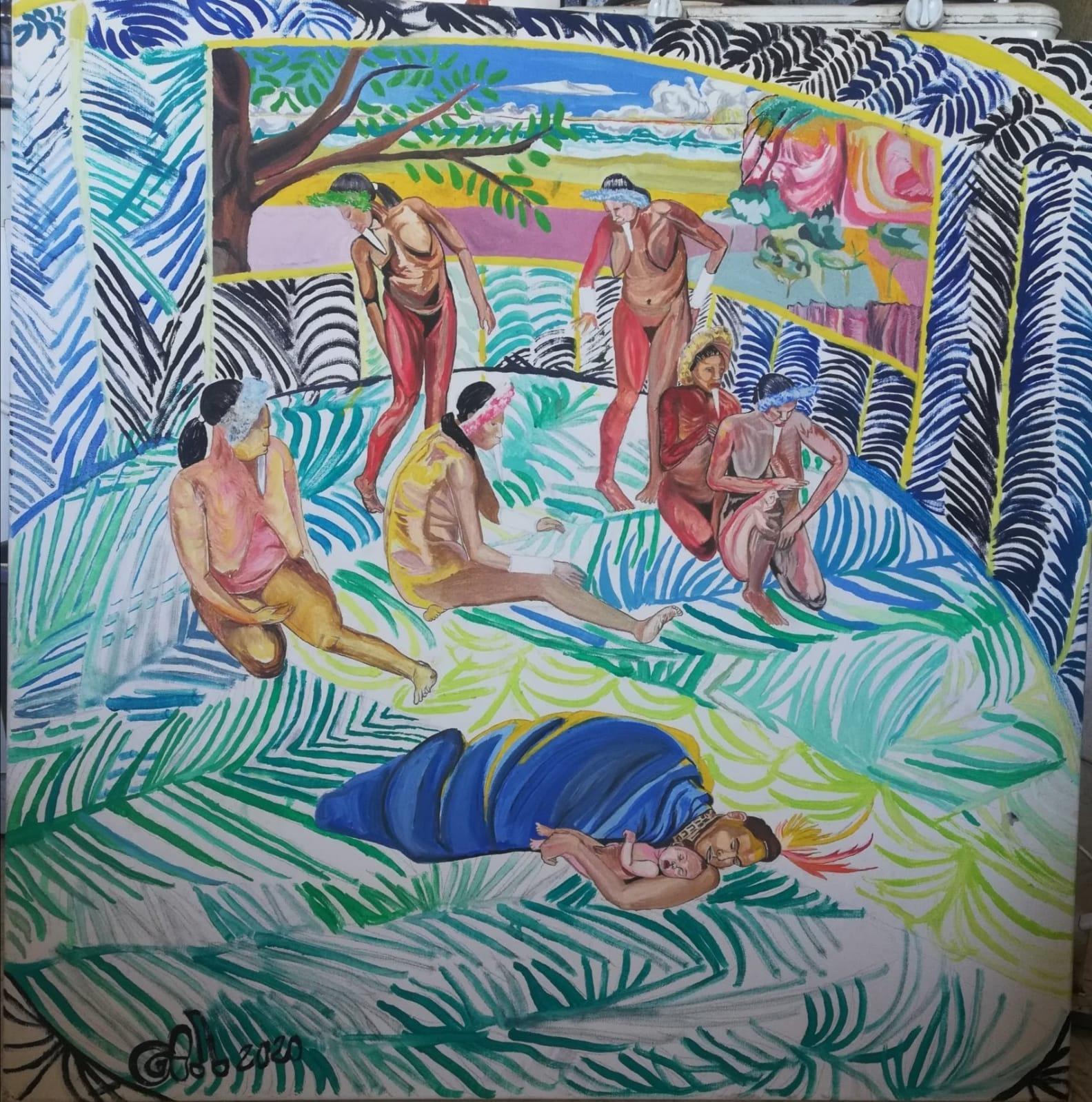 Eve rendant visite à Caïn et ses cinq femmes